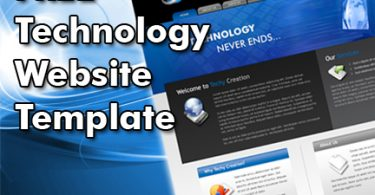 Free Technology Website Template