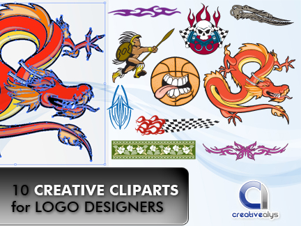 10 Creative Cliparts for LogoDesigners