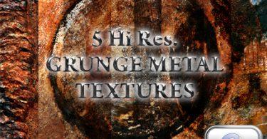 5 Grunge hi-res metal textures