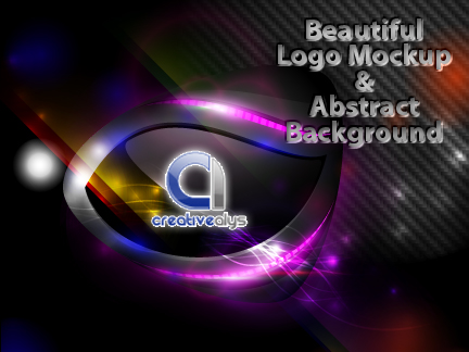 Beautiful logo mockup and abstract creative background