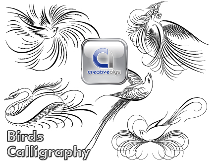 birds-calligraphy