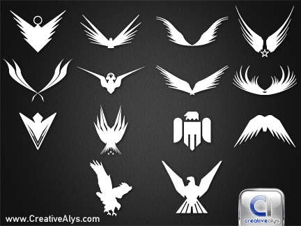 Abstract Eagles for Logo Design