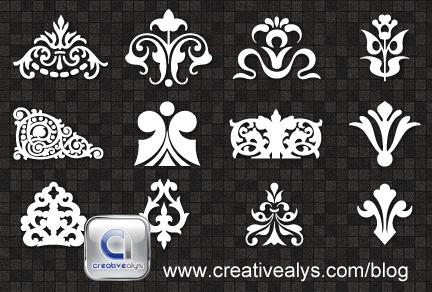 Decorative Ornaments for logo, web and graphic design