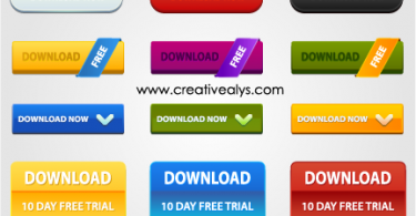 Creative Web Design Elements - Download Buttons