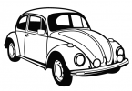 VW Beetle Vector