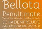 bellota creative font