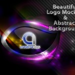 Beautiful Logo Mockup and Abstract Background