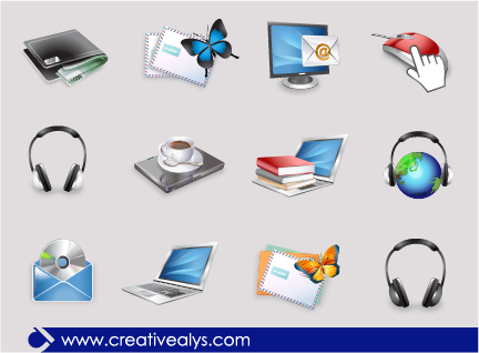 Creative 3D Web Icons
