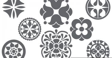 Abstract Floral Design Elements