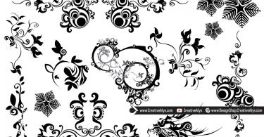 Beautiful Vector Swirls & Florals