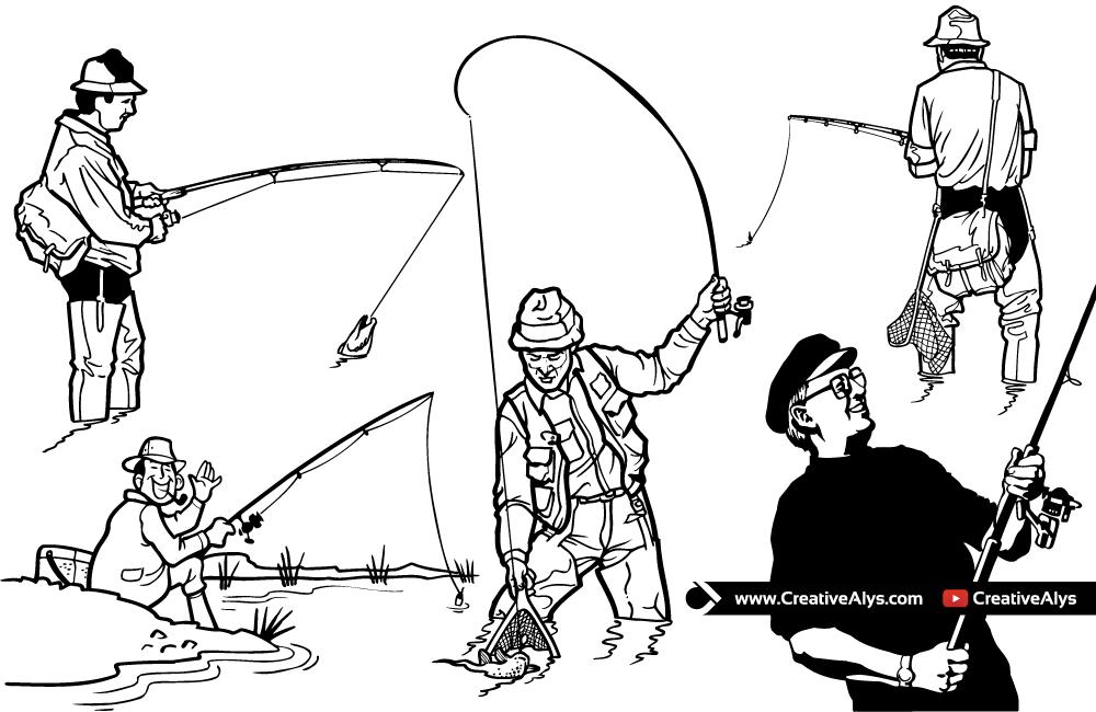 Fishing Vector Illustrations