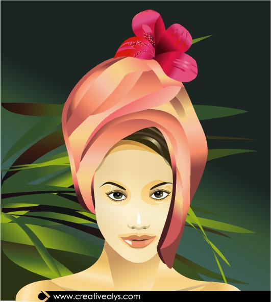Spa Beauty Vector Illustration