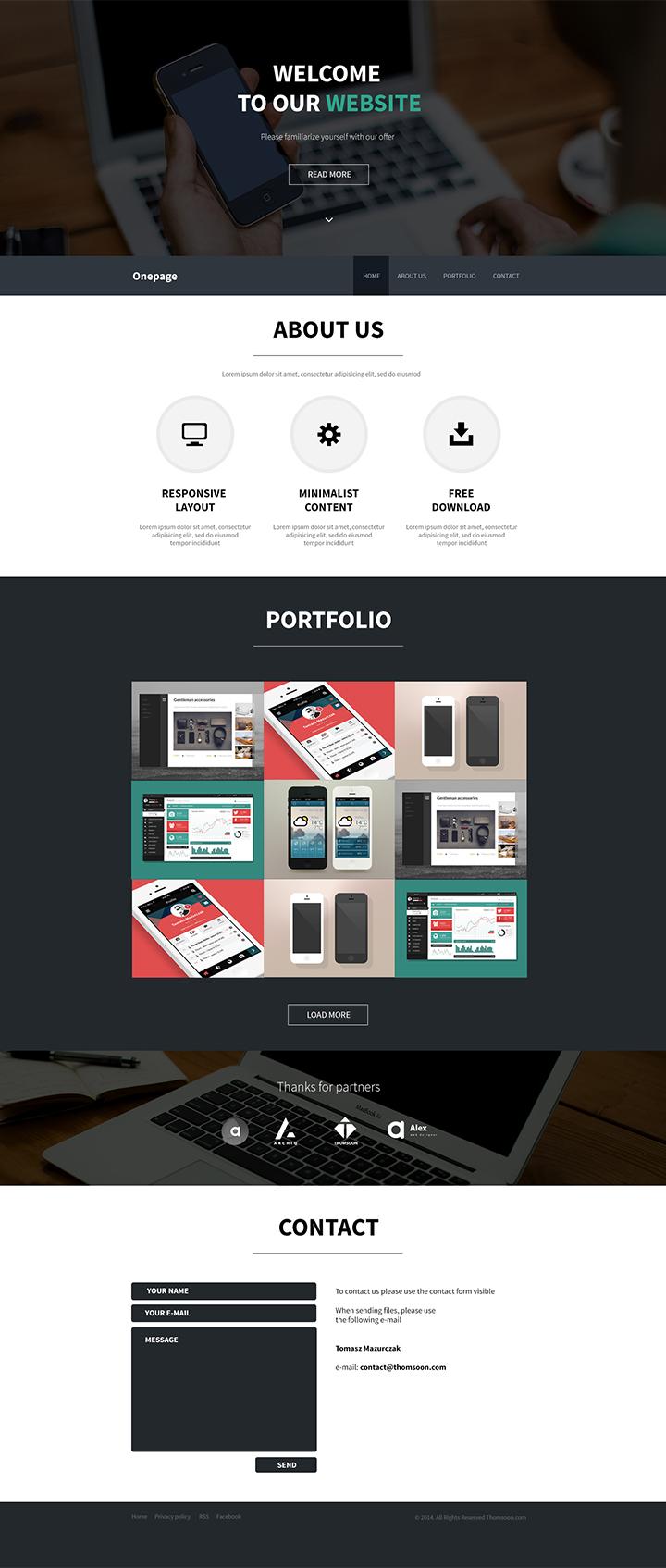 free-onepage-theme-html5