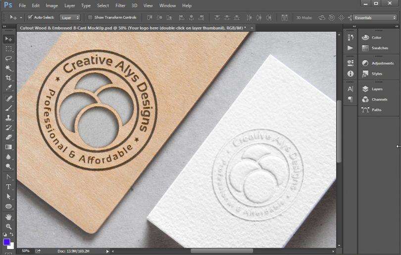 cutout-wood-embossed-logo-style