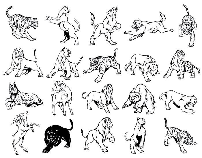 Animal Mascots Vector Collection