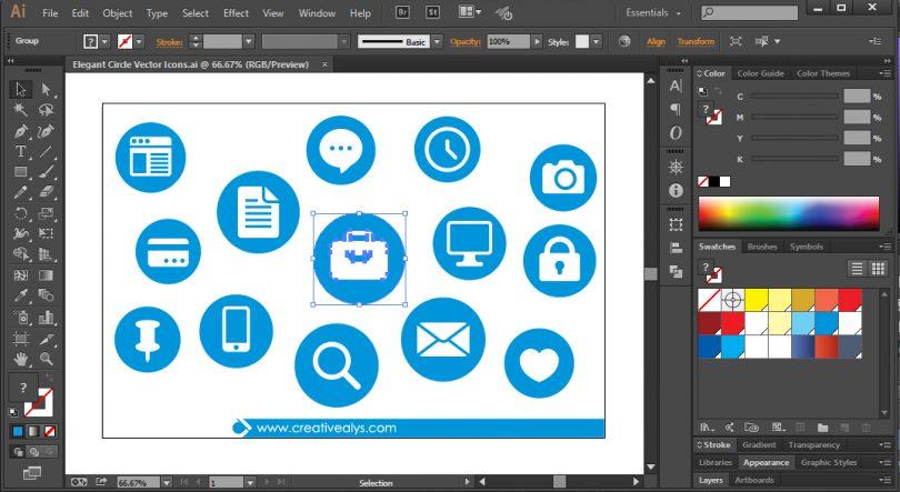 Elegant-Circle-Web-Icons