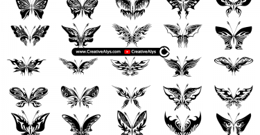 Abstract-Butterflies-Vector