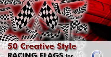 50 Creative Style Racing Flags_for_logodesign