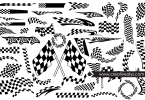 vector-racing-flags-silhouettes