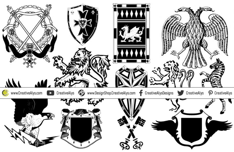 heraldic-symbols-for-logo-design