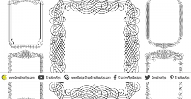 5-Calligraphic-Vector-Frames