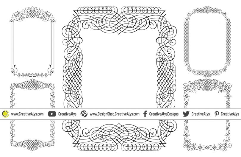 5-Calligraphic-Vector-Frames