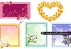 5-beautiful-vector-flower-frames