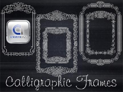 5 Calligraphic Vector Frames