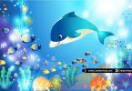 Cute-Dolphin-Underwater-Vector-Illustration