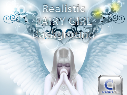 Vector realistic fairy girl background