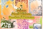 Vector Floral frames, borders and corners