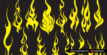 Vector-Flames-for-logo-design