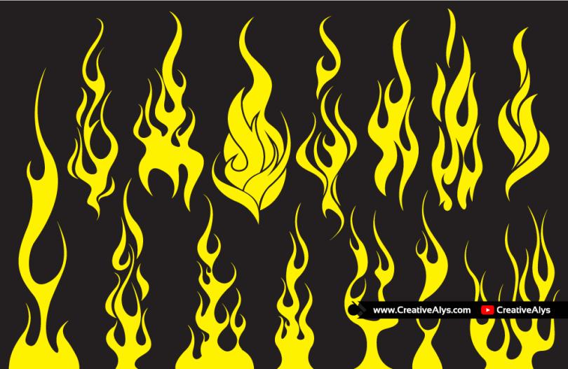 Vector-Flames-for-logo-design