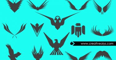 Abstract-Eagles-Vector-Silhouettes