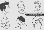 line-art-vector-faces