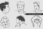 line-art-vector-faces