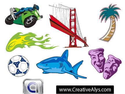 Creative graphics for logo designs