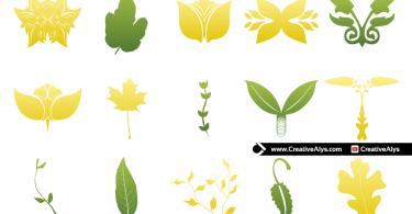 vector-leaves-for-logo-design