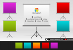 Multi-color-logo-presentation-mockup