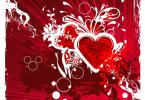 Creative Grungy Heart Background Design