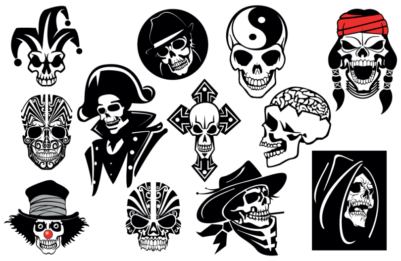 skull-vector-collection