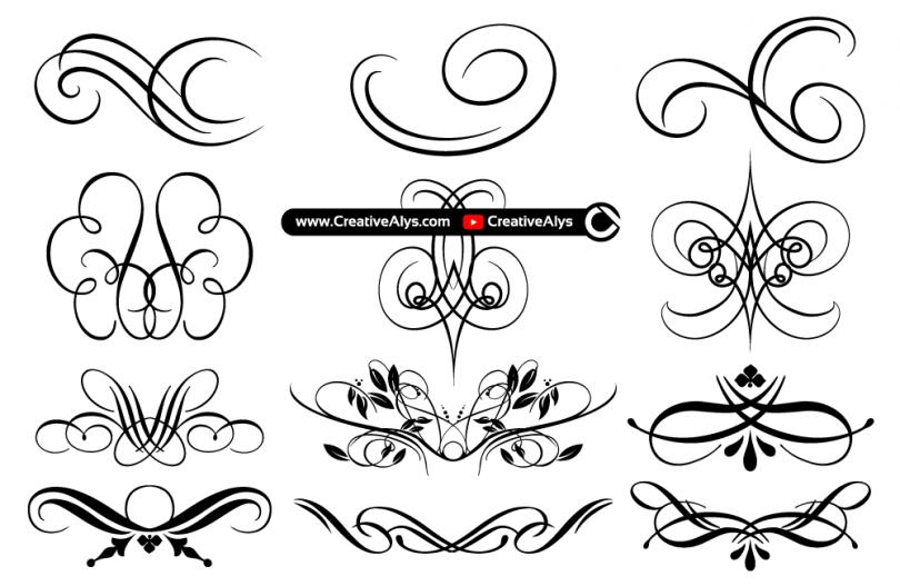 Beautiful-Flourishes-Swooshes