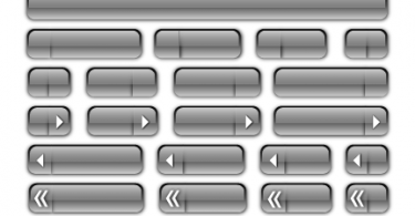 Glass Bars and Buttons for Website and Blog Themes
