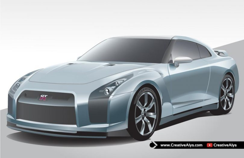 Nissan-GTR-Car-Vector