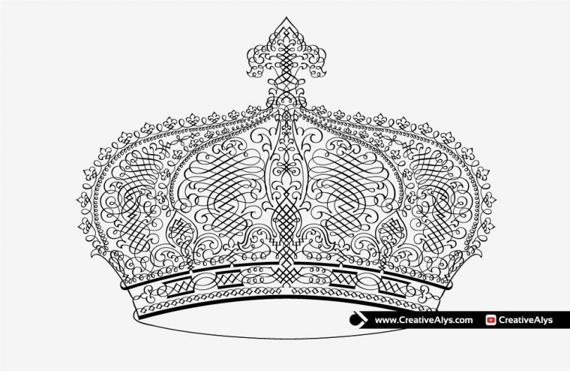 Vector-Calligraphic-Crown