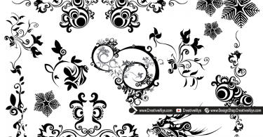Beautiful Vector Swirls & Florals