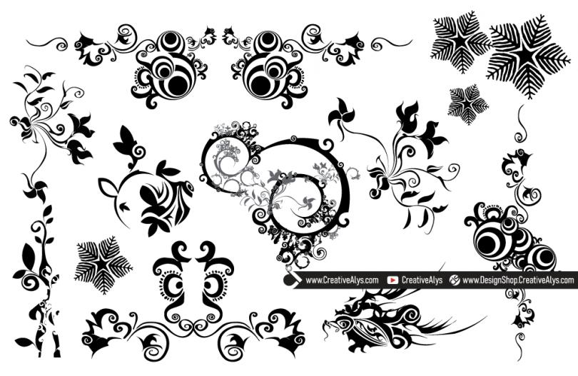 Beautiful-Vector-Swirls-Florals