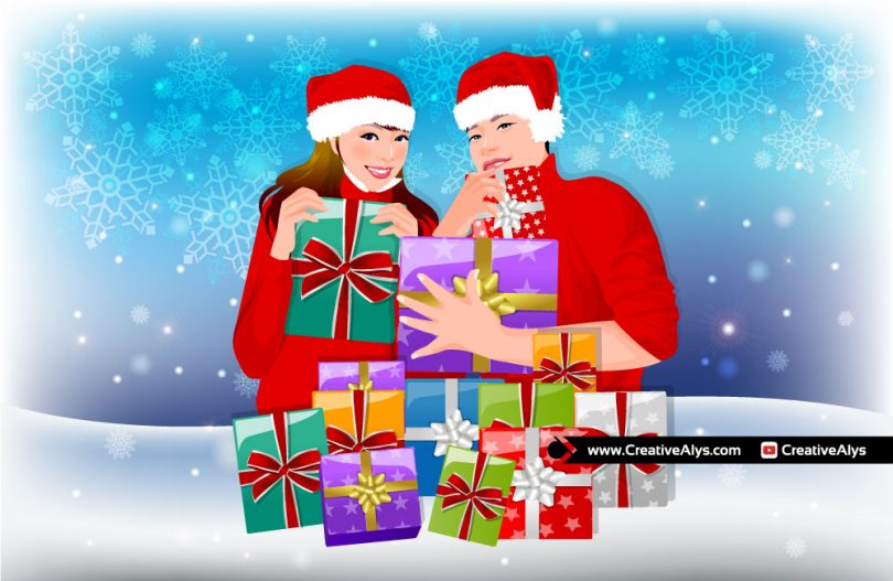 Christmas-Gifts-Vector-Artwork