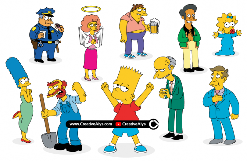 Simpsons Vector Characters