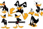 Daffy-Duck-Vector-Illustrations